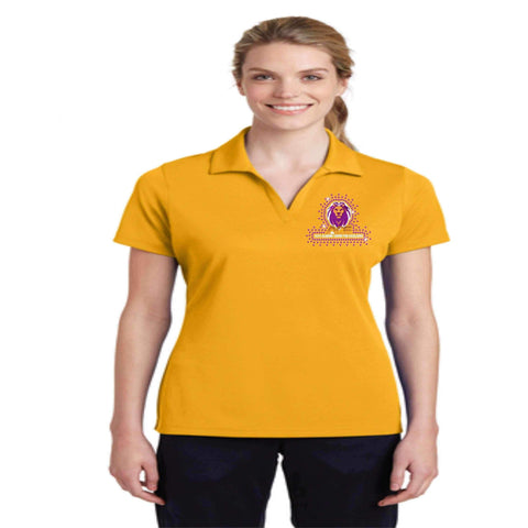 OCPS ACE Racer Mesh Polo-solid color with embroidered logo and optional spangle rhinestone bling Schools Becky's Boutique Womens Sizing Extra-small (womens size only) Yes please