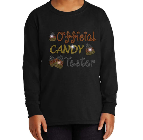 Official Candy Tester-Halloween - Youth Long Sleeve Youth Long Sleeve Becky`s Boutique Extra Small