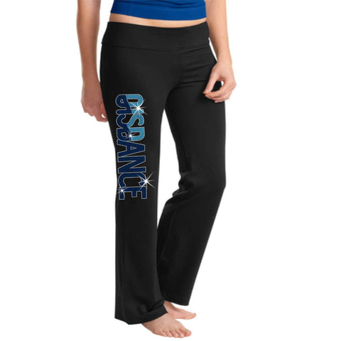 OIS Dance Ladies Yoga Pants Holographic Spangle Bling-Yoga Pants-Becky's Boutique-XS-Beckys-Boutique.com