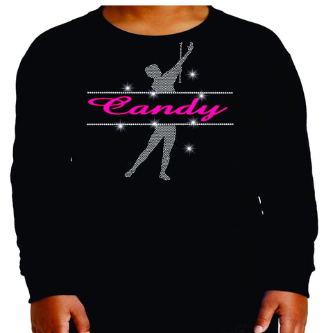 Personalized Name Twirlers Spangle Bling shirt - available in adult, youth, short, long sleeve, tank or hoodie sweatshirt-Becky's Boutique-Youth Long Sleeve-Youth Small-Beckys-Boutique.com