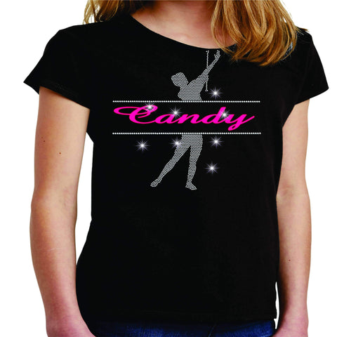 Personalized Name Twirlers Spangle Bling shirt - available in adult, youth, short, long sleeve, tank or hoodie sweatshirt-Becky's Boutique-Youth Short Sleeve-Youth Small-Beckys-Boutique.com