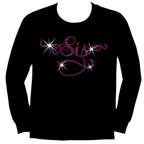 Sis -Youth Short Sleeve Crew Neck,Long Sleeve Crew Neck, Girls Tank Top, Youth Hooded Sweatshirt-Youth LS, SS, tank and Hoodie-Becky's Boutique-XS-Long Sleeve Crew Neck-Beckys-Boutique.com