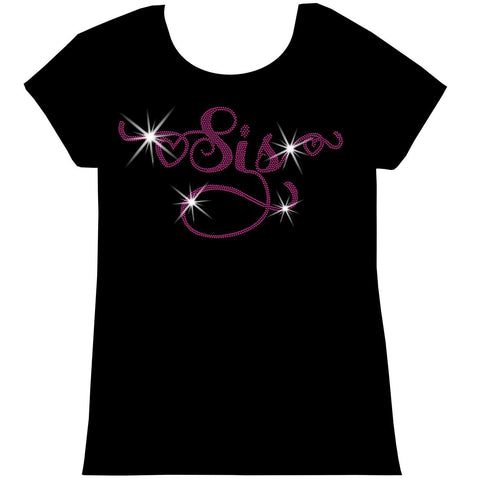 Sis -Youth Short Sleeve Crew Neck,Long Sleeve Crew Neck, Girls Tank Top, Youth Hooded Sweatshirt-Youth LS, SS, tank and Hoodie-Becky's Boutique-XS-Short Sleeve Crew Neck-Beckys-Boutique.com