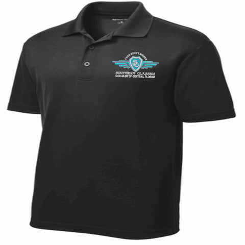 Southern Classics Car Club MENS Micro Mesh Polo- Black polo Becky's Boutique