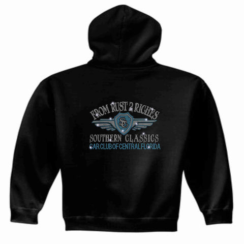 Southern Classics Car Club of Central Florida -Zip Up Hoodie Black Zip Up Hoodie Becky's Boutique