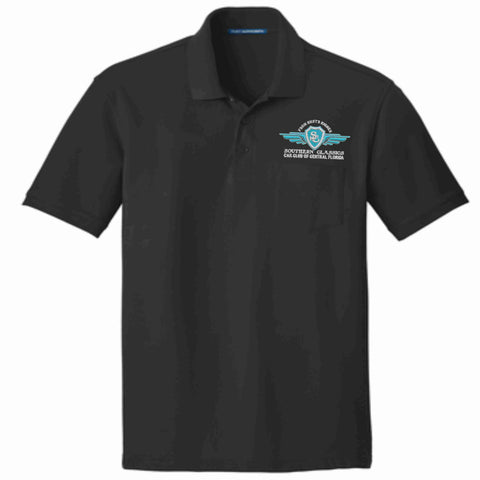 Southern Classics Car Club Short Sleeve POCKET Polo- Black Pocket Polo Becky's Boutique