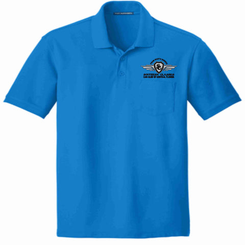Southern Classics Car Club Short Sleeve POCKET Polo- Teal Pocket Polo Becky's Boutique