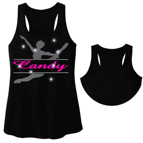Split Dancer Dance Gear Team Spirit shirt - Ladies Racerback Tank ladies racerback tank Becky`s Boutique Extra Small
