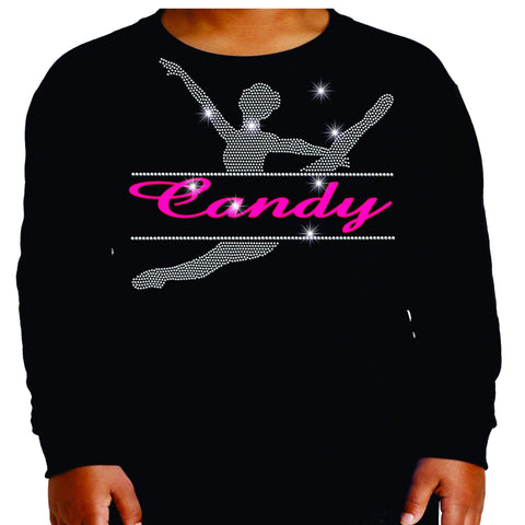 Split Dancer Dance Gear Team Spirit shirt - Youth Long Sleeve Youth Long Sleeve Becky`s Boutique Extra Small