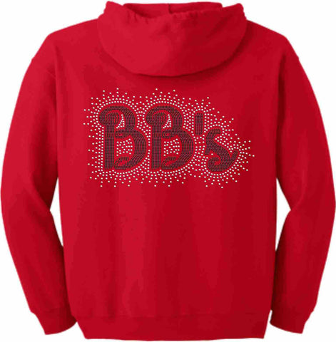 Steele Athletics Cheer Zip Up Hoodie Sweatshirt- BB's Adult and Youth sizes-Zip Up Hoodie-Becky's Boutique-Youth XS-Beckys-Boutique.com
