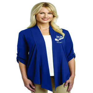 Stone Lakes Elementary Eagles embroidered soft flowy cardigan-royal blue Schools Becky's Boutique Extra-small womens