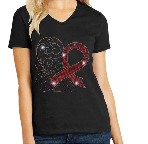 Stroke Awareness Spangle Bling shirt Causes & Awareness Becky's Boutique