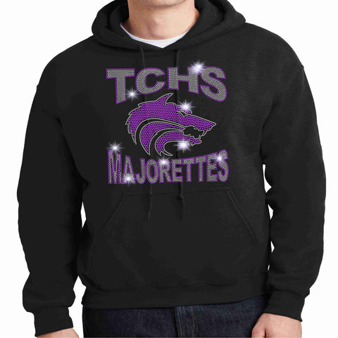 Timber Creek High School-TCHS Majorette Hoodie - Available in Black, purple and gray Hoodie Sweatshirt Beckys-Boutique.com Small Black