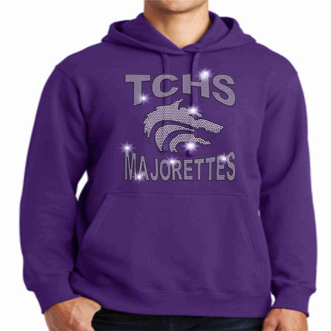 Timber Creek High School-TCHS Majorette Hoodie - Available in Black, purple and gray Hoodie Sweatshirt Beckys-Boutique.com Small Purple