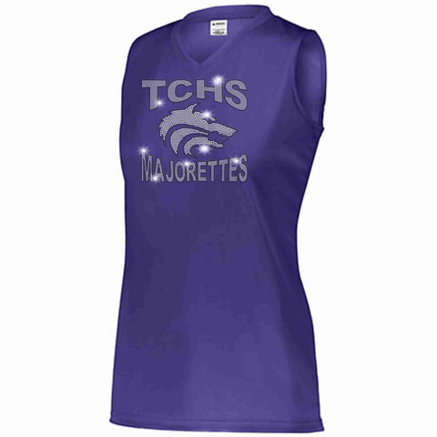 Timber Creek High School TCHS Majorette Ladies Sleeveless practice tank Ladies tank top Beckys-Boutique.com Small