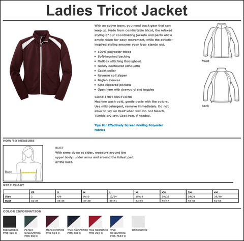 Image of Timber Creek High School TCHS Majorette warm zip up jacket Zip up jacket Beckys-Boutique.com
