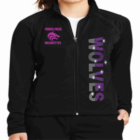 Timber Creek High School TCHS Majorette warm zip up jacket Zip up jacket Beckys-Boutique.com Extra-Small