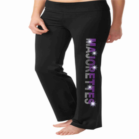 Timber Creek High School TCHS Majorettes warm up yoga pants Yoga Pants Beckys-Boutique.com Extra-Small