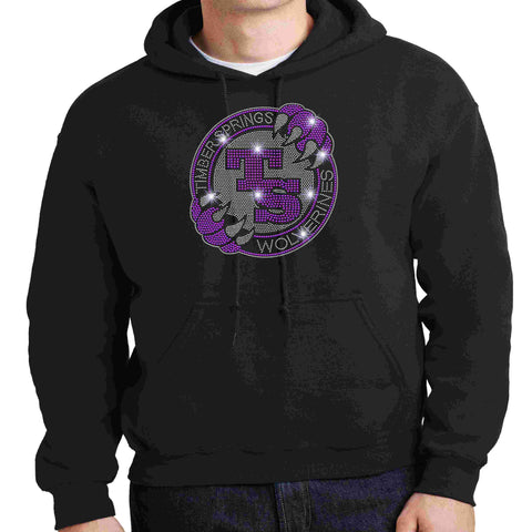Timber Springs Middle - Hoodie Bling Hoodie Beckys-Boutique.com Extra Small Black