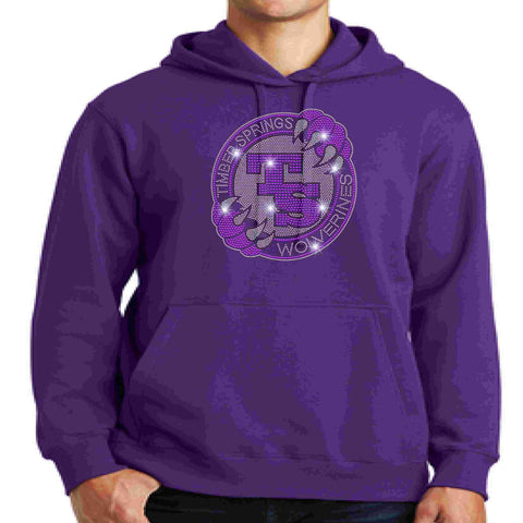 Timber Springs Middle - Hoodie Bling Hoodie Beckys-Boutique.com Extra Small Purple