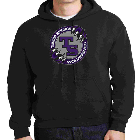 Image of Timber Springs Middle - Hoodie Screen Print Hoodie Beckys-Boutique.com Extra Small Black