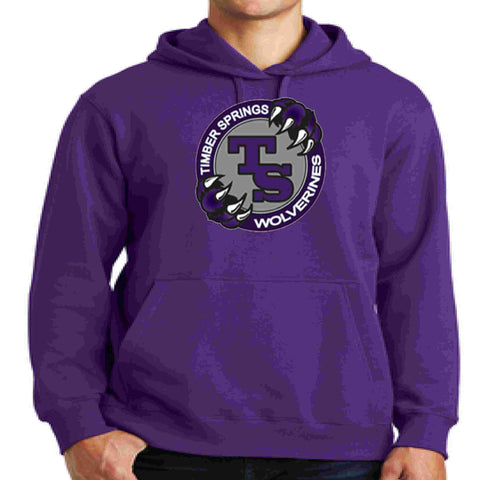 Image of Timber Springs Middle - Hoodie Screen Print Hoodie Beckys-Boutique.com Extra Small Purple