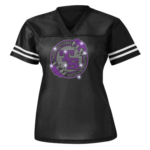 Timber Springs Middle - Ladies Jersey Bling Jersey Beckys-Boutique.com Extra Small Black