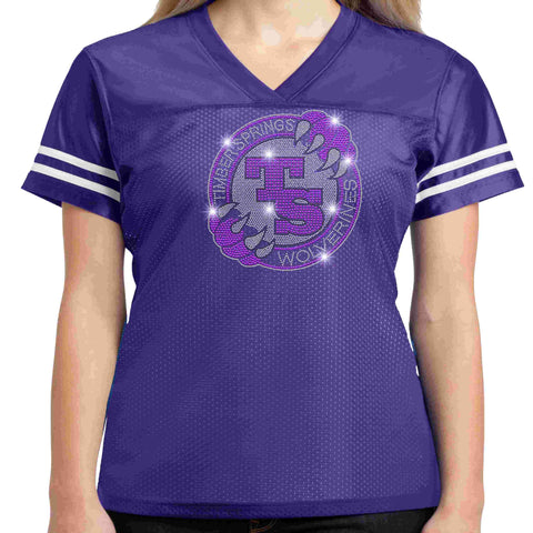 Timber Springs Middle - Ladies Jersey Bling Jersey Beckys-Boutique.com Extra Small Purple