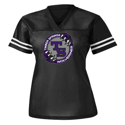 Timber Springs Middle - Ladies Jersey Screen Print Jersey Beckys-Boutique.com Extra Small Black
