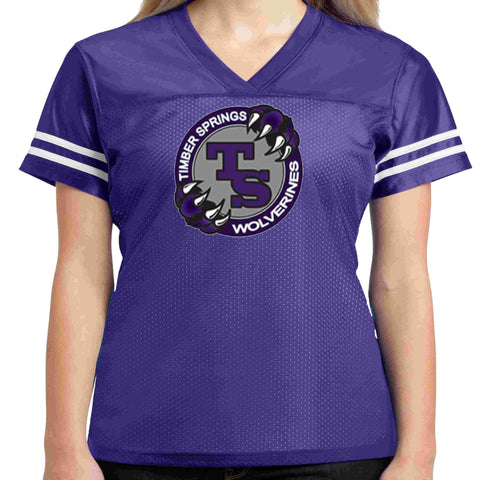 Timber Springs Middle - Ladies Jersey Screen Print Jersey Beckys-Boutique.com Extra Small Purple