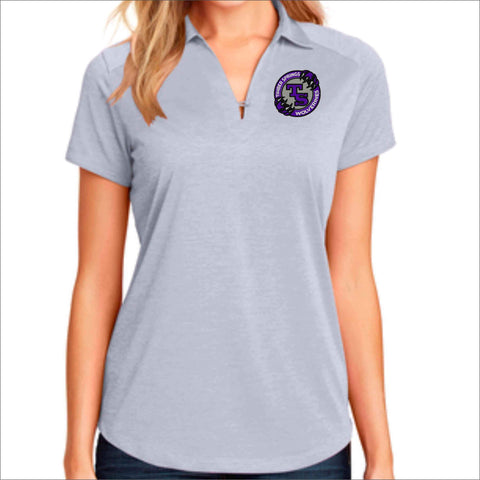 Timber Springs Middle - Womens Button Polo polo Beckys-Boutique.com Extra Small Light Gray