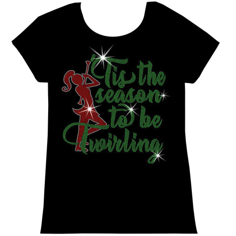 'Tis the Season to be Twirling! Youth Short Sleeve Crew Neck, Long Sleeve Crew Neck, Girls Tank Top, Youth Hooded Sweatshirt-Youth LS, SS, tank and Hoodie-Becky's Boutique-XS-Short Sleeve Crew Neck-Beckys-Boutique.com