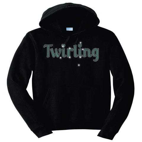 Image of Twirling Leg Spangle Rhinestone Bling shirt - available in adult, youth, short, long sleeve, tank or hoodie sweatshirt Beckys-Boutique.com