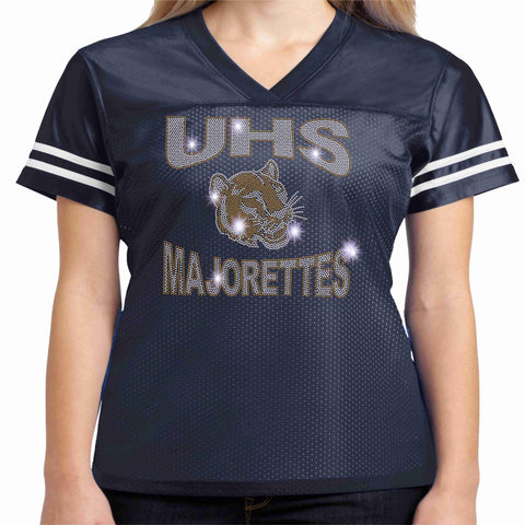 Image of UHS Majorette Jersey Shirt - Available in Navy Blue Beckys-Boutique.com Extra-Small
