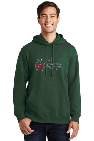 University Carillon Spangle Bling Hoodie Sweatshirt Schools Becky's Boutique S Dark Green