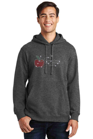 University Carillon Spangle Bling Hoodie Sweatshirt Schools Becky's Boutique S Dark Heather Gray