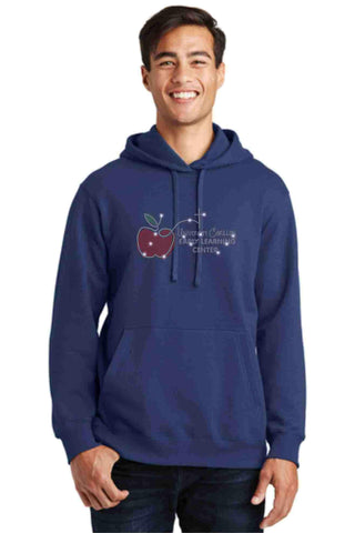 University Carillon Spangle Bling Hoodie Sweatshirt Schools Becky's Boutique S Navy Blue