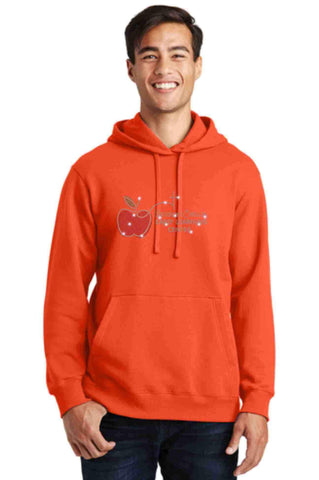 University Carillon Spangle Bling Hoodie Sweatshirt Schools Becky's Boutique S Orange