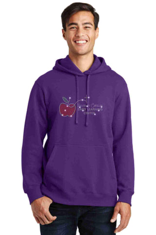 University Carillon Spangle Bling Hoodie Sweatshirt Schools Becky's Boutique S Purple