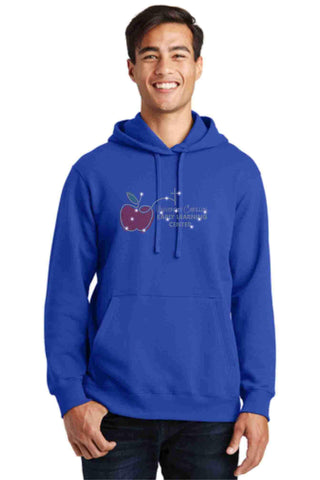 University Carillon Spangle Bling Hoodie Sweatshirt Schools Becky's Boutique S Royal Blue