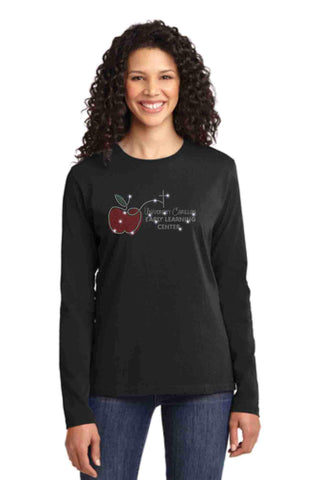 University Carillon Spangle Bling shirt -long sleeve crew neck Schools Becky's Boutique XS Black