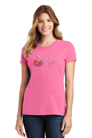 University Carillon Spangle Bling shirt - scoop neck Schools Becky's Boutique XS Pink