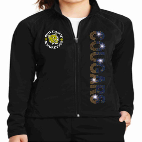 University High School UHS Majorette warm zip up jacket Zip up jacket Beckys-Boutique.com Extra-Small