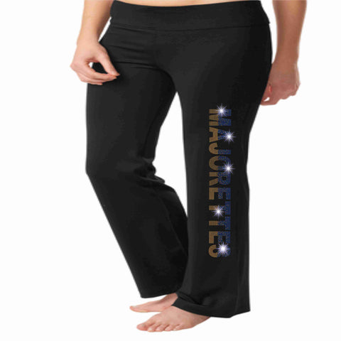 University High School UHS Majorettes warm up yoga pants Yoga Pants Beckys-Boutique.com Extra-Small
