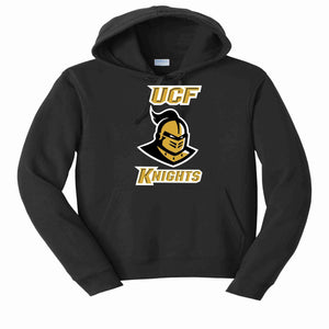 University of Central Florida UCF Knights Knightro Head Matte print shirt Beckys-Boutique.com S Hooded Sweatshirt