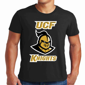 University of Central Florida UCF Knights Knightro Head Matte print shirt Beckys-Boutique.com S Short Sleeve Crew Neck
