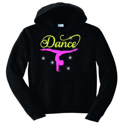 Upside down Dancer Split Dance Gear Team Spirit shirt - Hoodie Sweatshirt Hoodie Sweatshirt Becky`s Boutique Extra Small