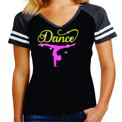 Upside down Dancer Split Dance Gear Team Spirit shirt - Ladies Jersey Shirt Jersey Shirt Becky`s Boutique Extra Small