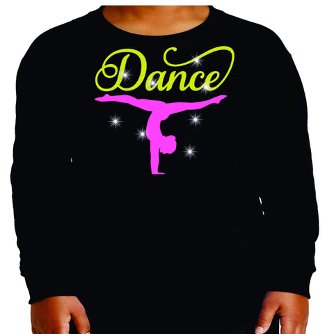 Upside down Dancer Split Dance Gear Team Spirit shirt - Youth Long Sleeve Youth Long Sleeve Becky`s Boutique Extra Small
