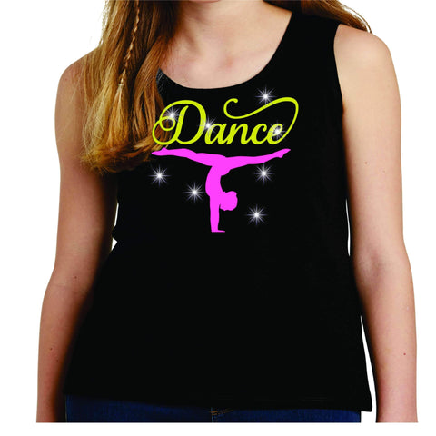 Upside down Dancer Split Dance Gear Team Spirit shirt - Youth Tank Youth Tank Becky`s Boutique Extra Small
